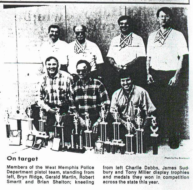 Police Pistol Team With Trophies